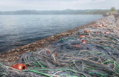 Fishing Nets To Dry Art Print by Leonardo Marangi