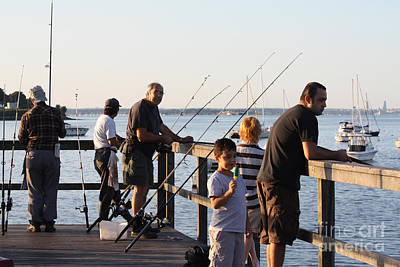 Photograph - Fishing Off The Bayside Pier by John Telfer
