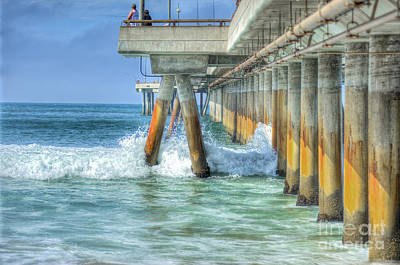Photograph - Fishing Off The Pier by David Zanzinger