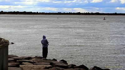 Photograph - Fishing Off The Rocks by Nance Larson