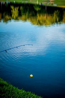 Photograph - Fishing On A Lake by Alex Grichenko