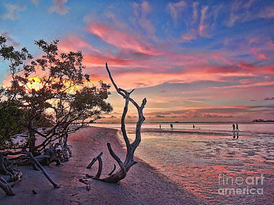 Photograph - Fishing On Sanibel Island by Jeff Breiman