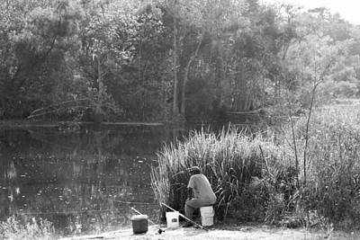 Photograph - Fishing On The Bayou In Louisiana by Ronald Olivier