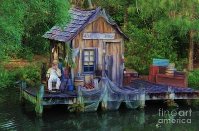 Fishing On The Bayou Art Print by Lee Dos Santos