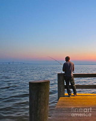 Photograph - Fishing On The Chesapeake  by Nancy Patterson