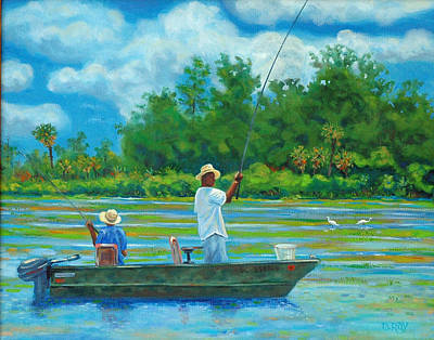 Fishing On The Cooper Art Print by Dwain Ray