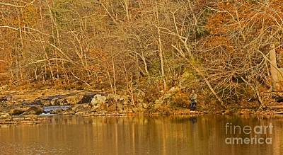 Photograph - Fishing On The Eno by Sandra Clark