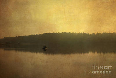 Photograph - Fishing On The Lake by Dave Gordon
