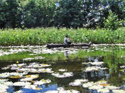 Digital Art - Fishing On The Lake by Yury Malkov