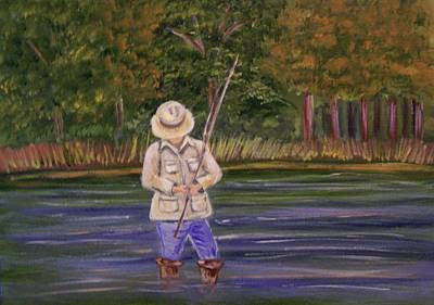 Painting - Fishing On The River by Belinda Lawson