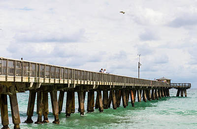 Fishing Pier At Pompano Beach, Broward Art Print