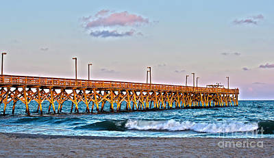 Photograph - Fishing Pier In Hdr by Jill Lang
