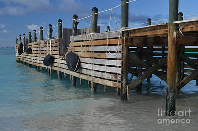 Art Print featuring the photograph Fishing Pier by Judy Wolinsky