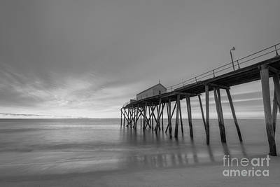 Fishing Pier Sunrise Bw Original