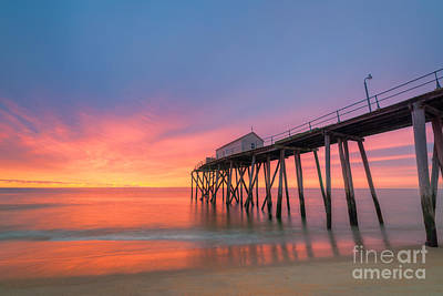 Fishing Pier Sunrise Art Print by Michael Ver Sprill