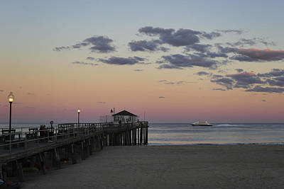 Fathers Office Photograph - Ocean Grove Nj Fishing Pier by Terry DeLuco