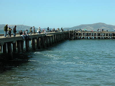 Valerie Paterson Wall Art - Photograph - Fishing Pier by Valerie Paterson