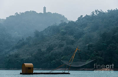 Photograph - Fishing Platform And Cihen Pagoda by Alexander Kunz