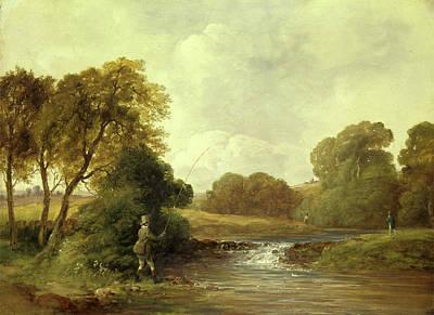 Fishing Playing A Fish, William Jones, Active 1832-1836 Art Print