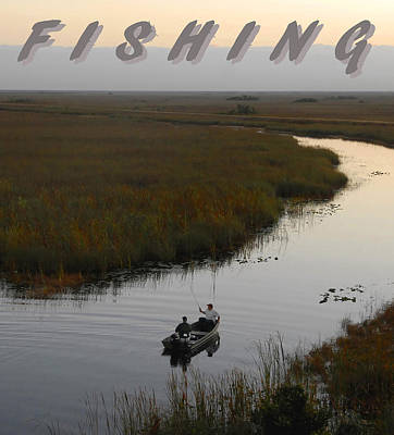 Photograph - Fishing Poster One by David Lee Thompson