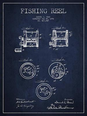 Reel Digital Art - Fishing Reel Patent From 1892 by Aged Pixel