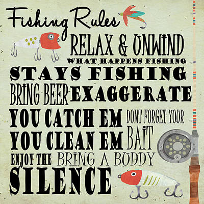 Painting - Fishing Rules by Shanni Welsh
