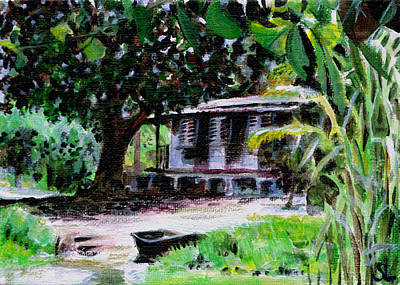 Fishing Shack Original by Sarah Lynch