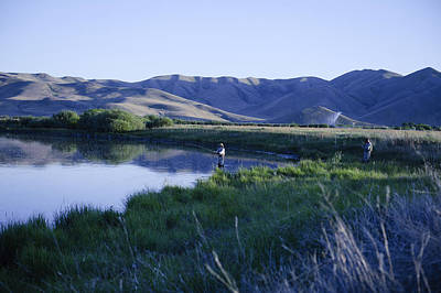 Bob Clark Photograph - Fishing Silver Creek East by Bob Clark