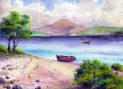 Painting - Fishing Spot by Alban Dizdari