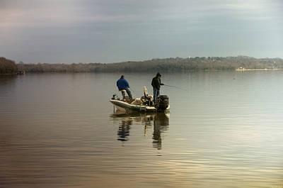 Damn Photograph - Fishing by Steven  Michael