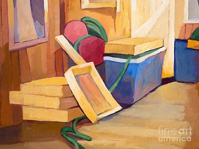 Painting - Fishing Stuff by Lutz Baar