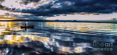 Photograph - Fishing Taal Volcano Crater by Michael Arend