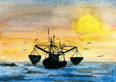 Fishing Tackle Art Print by R Kyllo