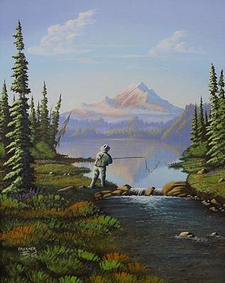 Painting - Fishing The High Lakes by Richard Faulkner