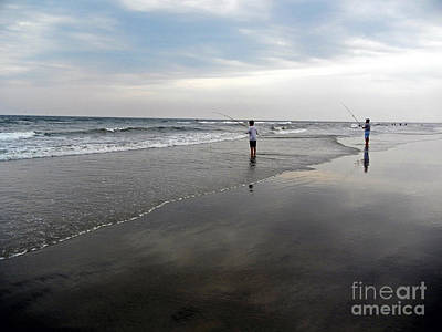 Photograph - Fishing The Jersey Shore by NightVisions