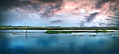 Photograph - Fishing The Lake by Ian Gledhill