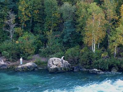 Photograph - Fishing The Niagara Gorge by Peggy King