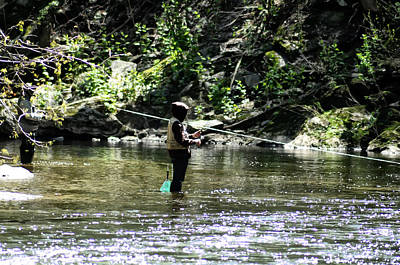 Fishing The Wissahickon Art Print by Bill Cannon