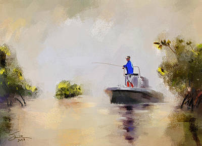 Painting - Fishing Time by Robert Smith