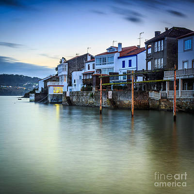 Fishing Town Of Redes Galicia Spain Art Print