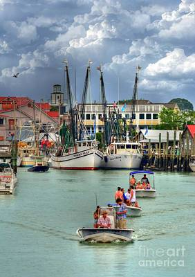 Photograph - Fishing Town Shem Creek by Kathy Baccari
