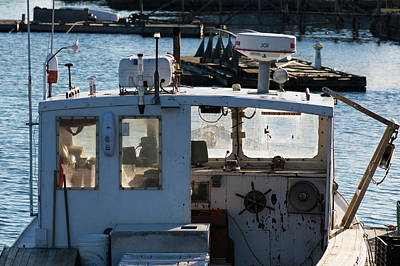 Fishing Trawler At Harbor, Lobster Art Print