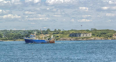 Art Print featuring the photograph Fishing Trawler Coming Into Port by Jane Luxton
