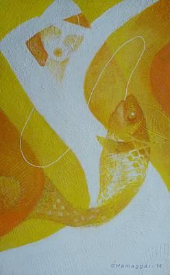 Painting - Fishing Trip-pt.2 by Hemu Aggarwal