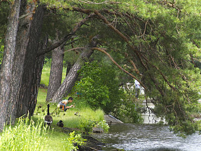 Photograph - Fishing Under A Pine Tree by Lynn Hansen
