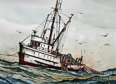 Dakota Painting - Fishing Vessel Dakota by James Williamson