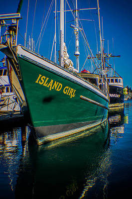 Photograph - Fishing Vessel Island Girl by Steven Brodhecker