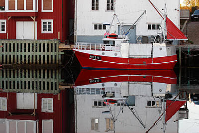 Hollywood Style - Fishing vessel moored in Henningsvaer by Ulrich Kunst And Bettina Scheidulin
