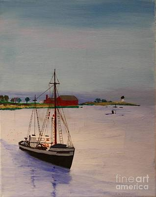 Painting - Fishing Vessel Superior by Bill Hubbard