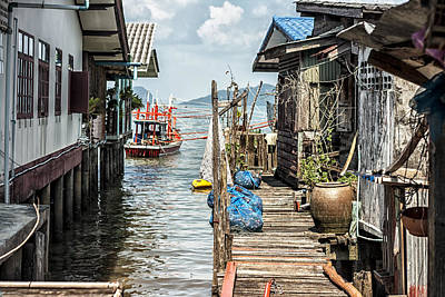 Fishing Village In Koh Lanta Thailand Art Print by Georgia Fowler